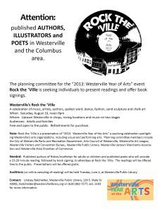Rock the 'Ville call for authors
